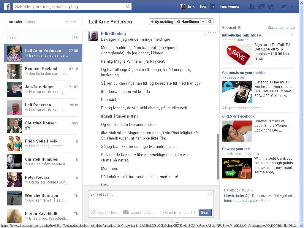enda mer facebook leif arne pedersen