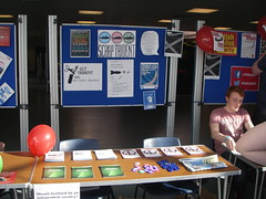 Yes stall at the University of Stirling, April 2014