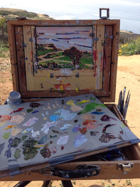Painting in ocean beach