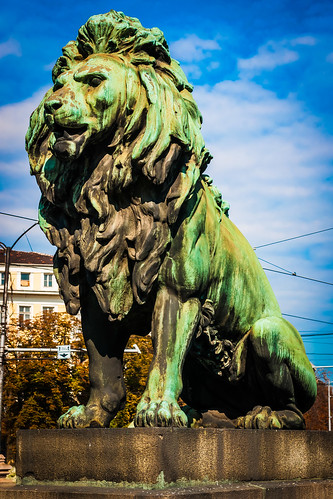 Lion Bridge Statue, Sofia, Bulgaria