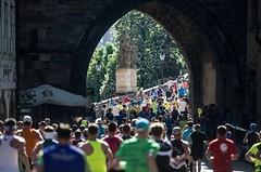 NA VLASTNÍ NOHY: Krom potu letos maraton nabídl vedro a vítr