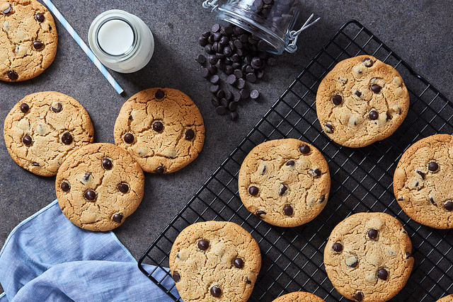 Perfect Grain-free Chocolate Chip Cookies {gluten-free, paleo, egg-free, dairy-free}