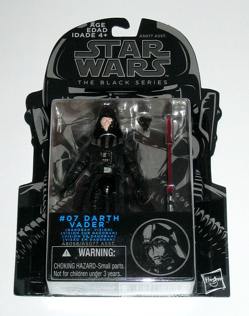 star wars the black series 2015 #07 darth vader dagobah vision the empire strikes back hasbro 3.75 inch action figures mosc a