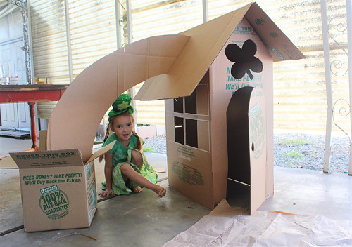 Diy leprechaun house made from cardboard boxes alpha mom for What can i make with boxes