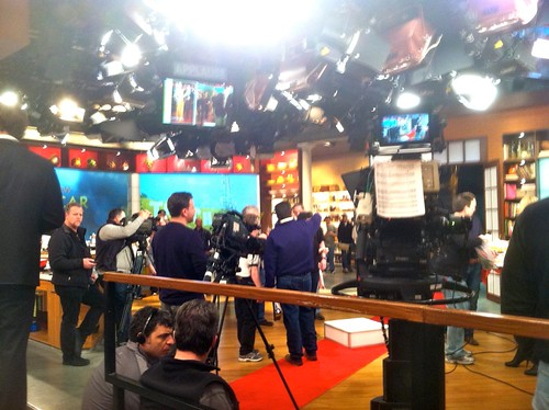 visiting a taping of the chew