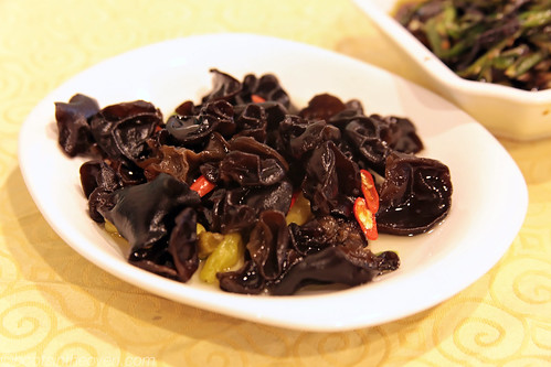 Pickled Woodear Mushrooms with Chile