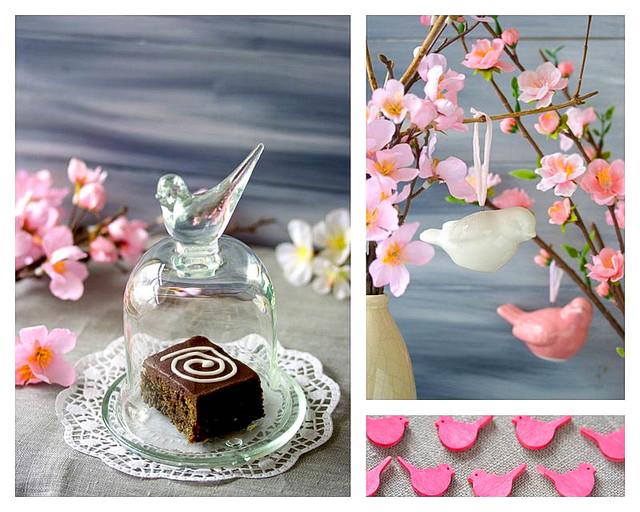 ゴマとチョコレートケーキ--Japanischer Sesamkuchen mit Schokolade