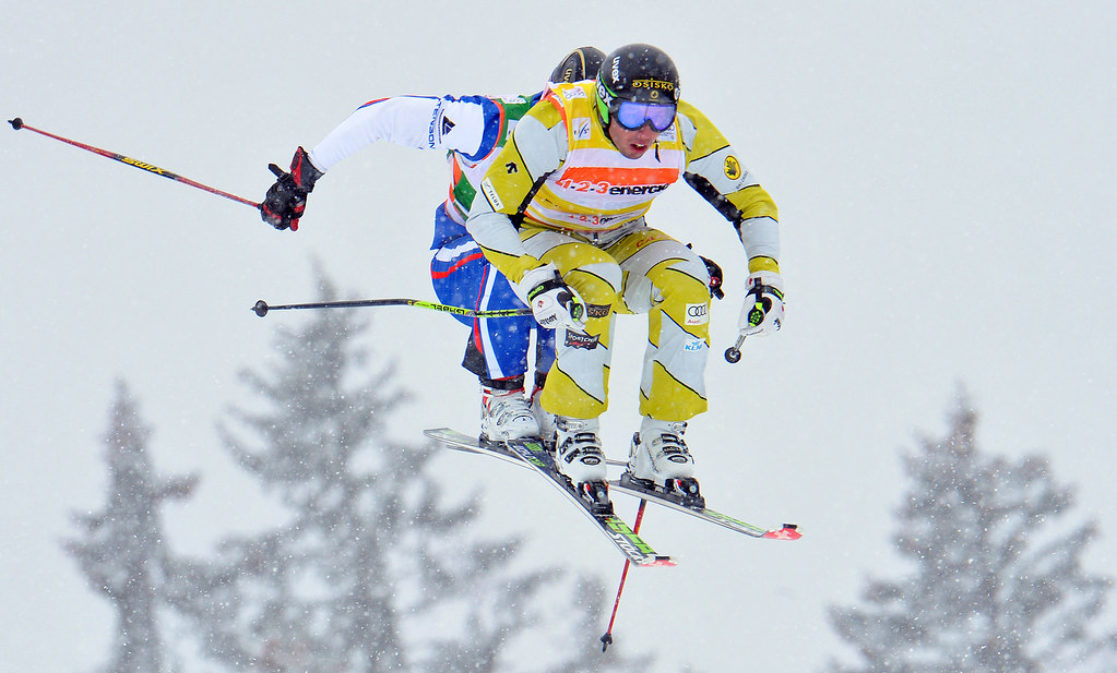 Dave Duncan in action during the Bischofswiesen/Goetschen, Germany, ski cross World Cup.