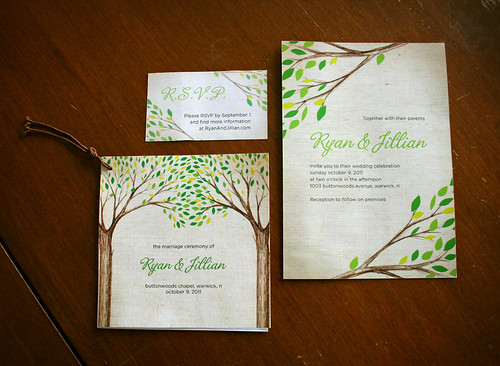 Tree Branches invitation suite