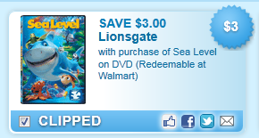 Save $3.00 With Purchase Of Sea Level On Dvd (redeemable At Walmart)  Coupon