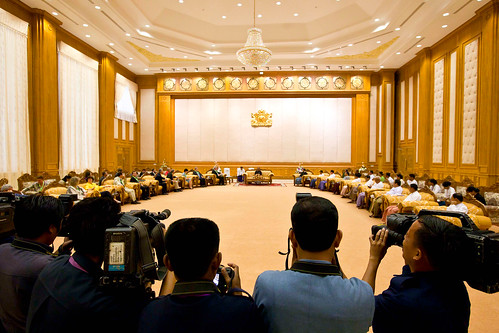 Meeting with the speaker of the Upper House, U Khin Aung Myint