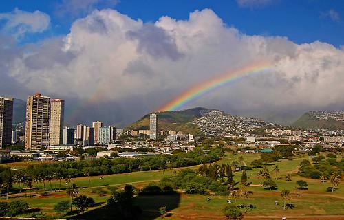 hawaii rainbow nikon waikiki oahu manoa d40 koolaumountains iolanischool alawaigolfcourse nikond40 alawaiboulevard