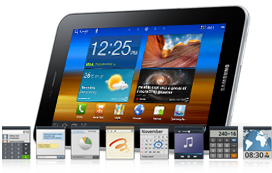 samsung galaxy tab 7.0 plus front look