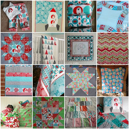 Brrr! fabric - inspiration mosaic