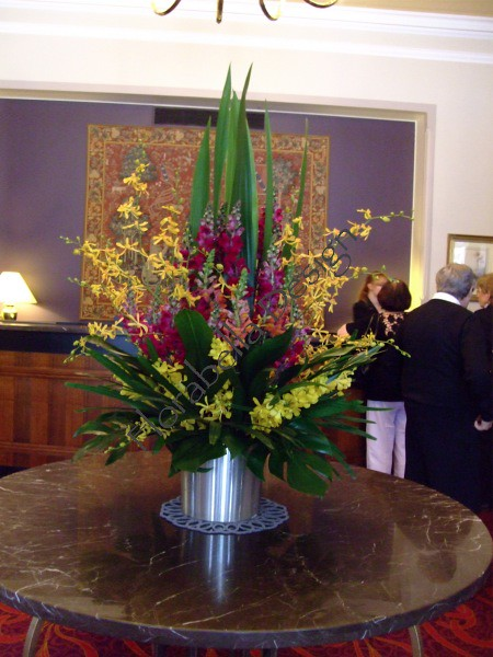 Large corporate foyer flower arrangements flickr photo for Foyer flower arrangement