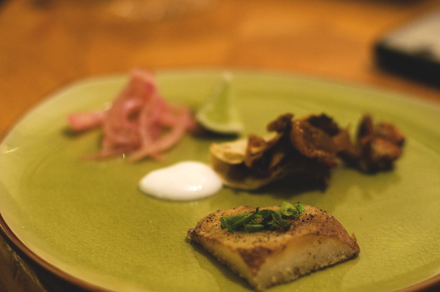 fig & oyster mushroom mini taco