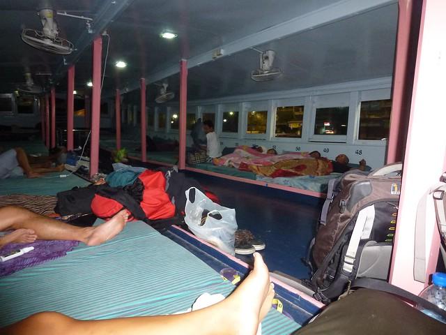 Inside the sleeper ferry