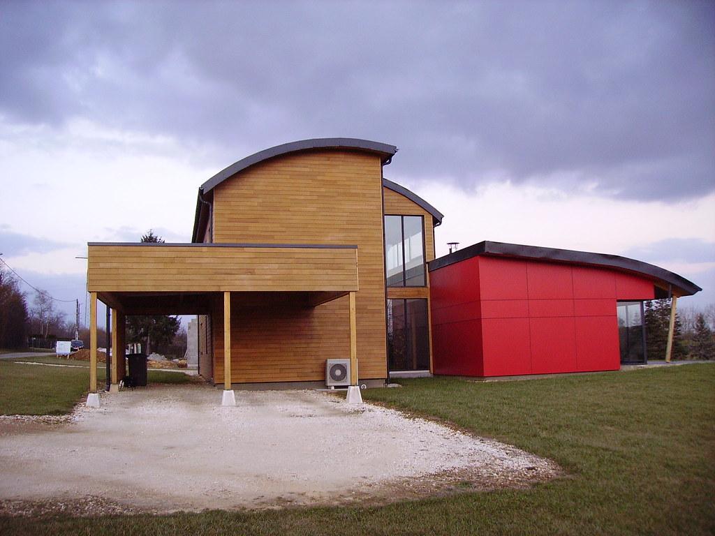 Maison moderne en bois   Nièvre.   JPC24M   Flickr