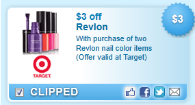 $3.00 Off With Purchase Of Two Revlon Nail Color Coupon