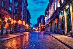 Blue hour in Old Montreal
