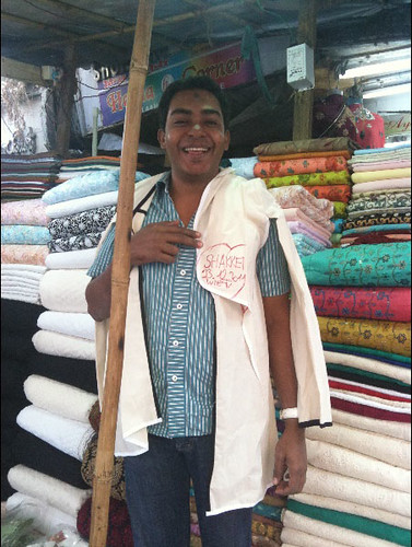 Fabric merchant, Mumbai, India