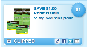 Robitussin Product Coupon