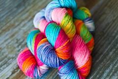 'double pink rainbow' Riata BFL aran