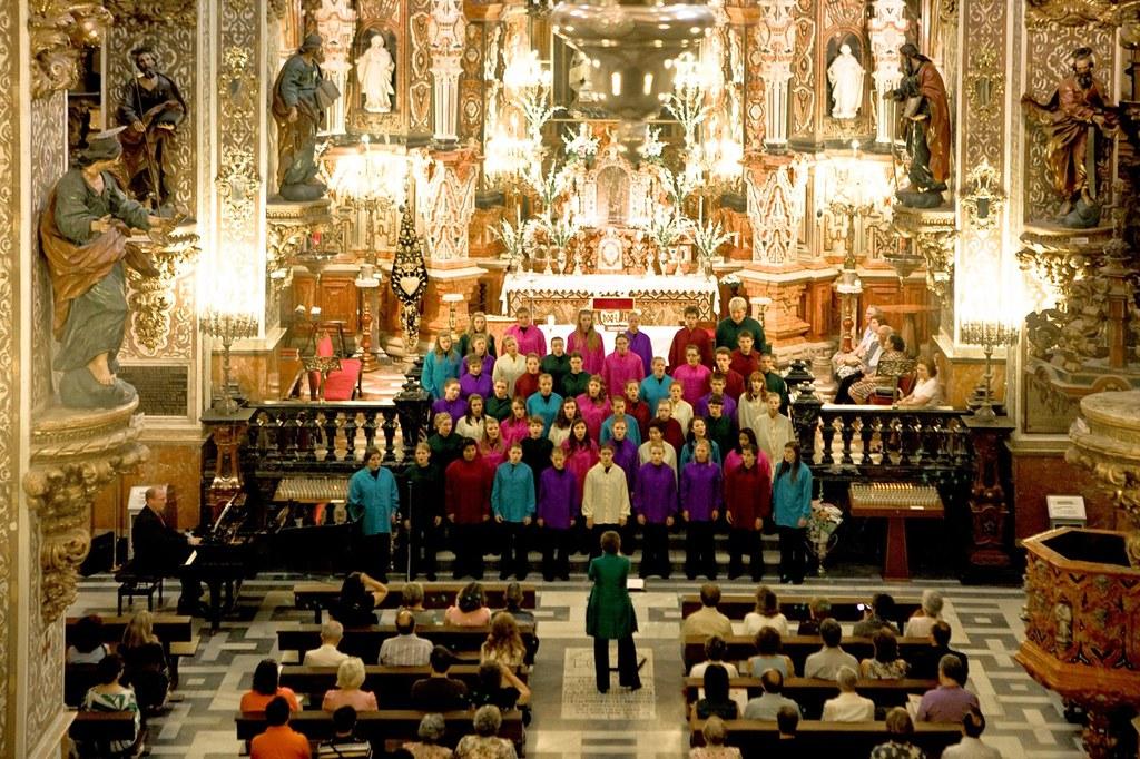 Anima performs in the Basilica de Nuestra Senora de las Augustias in Granada, Spain