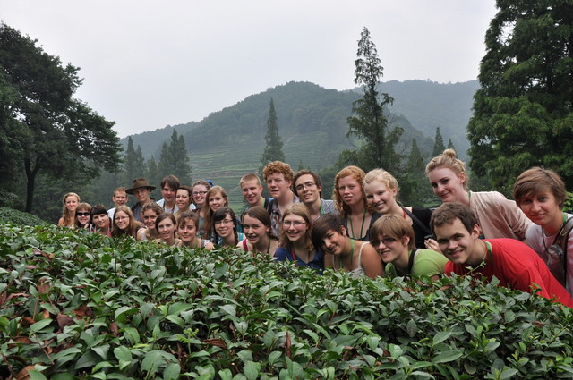 Edmonton Youth Choir at a tea village near Hangzhou