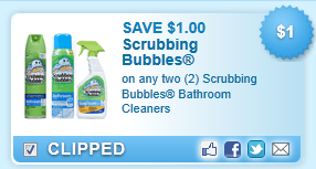 Scrubbing Bubbles Bathroom Cleaners Coupon