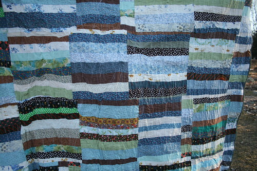 Blue Stripe Quilt