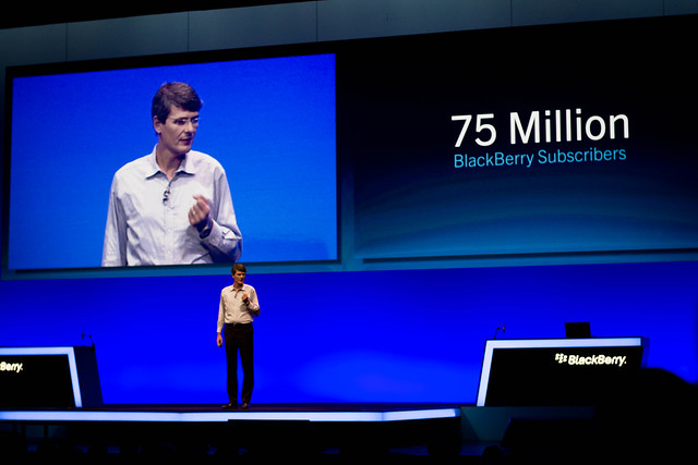 Thorsten Heins during his Keynote on #bbdevcon
