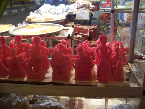 Sugar figures on sale in Luxor