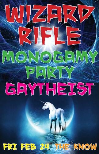 2/24/12 WizardRifle/MonogamyParty/Gaythiest