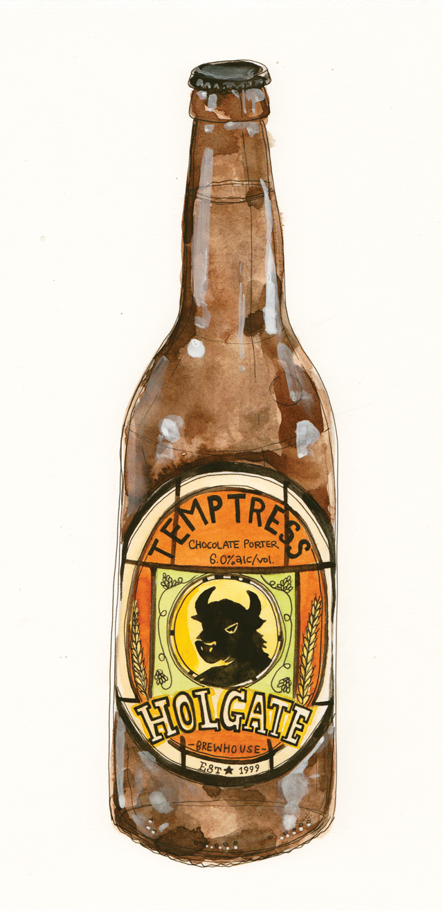 Temptress Beer Bottle