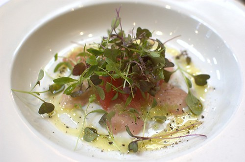 Carpaccio of Hiramasa king fish