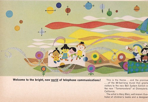 Mary Blair at&t mural ad 1967 - Part 1