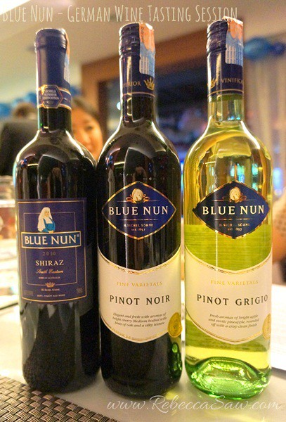 BLue Nun wine tasting - German wines