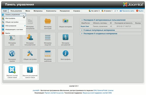 Панель управления, пиктограммы-индикаторы