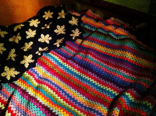 Attic 24 pattern blanket and small blanket