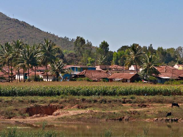 Village in interior Karnataka, India