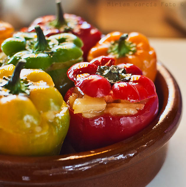 Stuffed mini peppers with tortilla