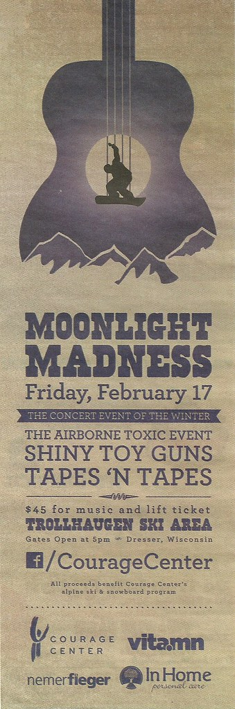 02/17/12 Airborne Toxic Event/ Shiny Toy Guns/ Tapes 'N' Tapes @ Trollhaugen Ski Area, Dresser, WI