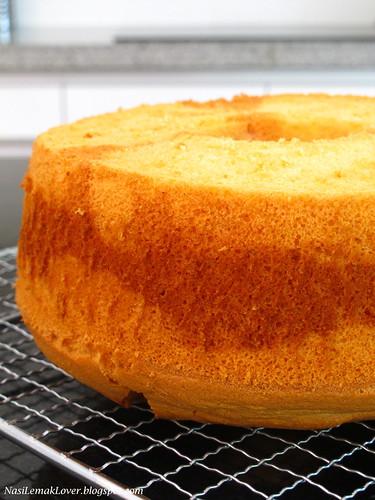 Red Yeast Marble Chiffon Cake  紅麴大理石戚风蛋糕