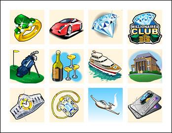 free Millionaires Club 2 Slots slot game symbols