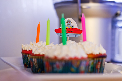 Neon Birthday Candles