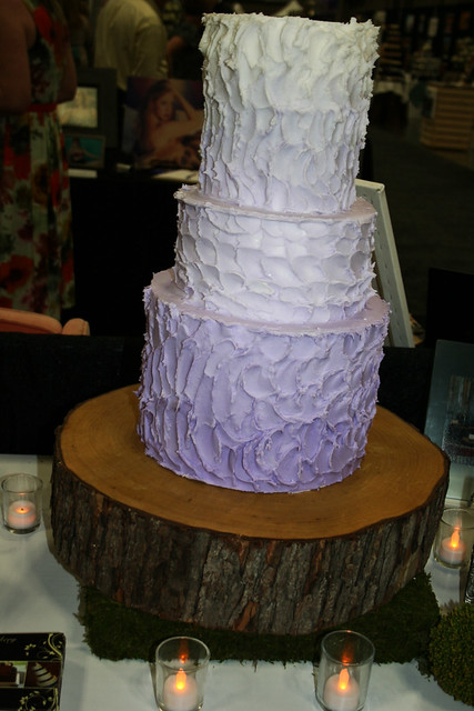 Buttercream Rustic Wedding cake Bridal Expo display cake in June 2011