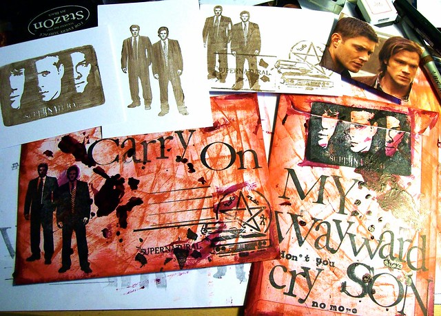 mail art 365-043 + 044 Carry On My Wayward Son