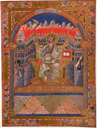 014-Imagen del evangelista Lucas-Evangeliar  Codex Aureus - BSB Clm 14000-© Bayerische Staatsbibliothek