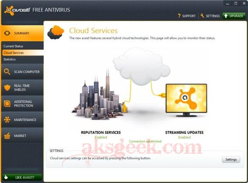 Avast 7 cloud services